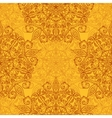 Ethnic decorative handmade orange seamless pattern vector image vector image