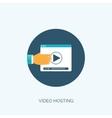 Flat video hosting Online vector image