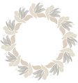 floral circle frame scandinavian style vector image vector image