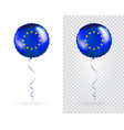 foil round shaped balloons in as europe national vector image