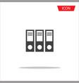 folder icon folder symbols file document vector image vector image