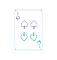 four of spades french playing cards related icon vector image vector image