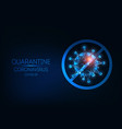 futuristic coronavirus covid-19 quarantine web vector image vector image