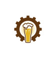 gear beer logo icon design vector image