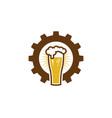gear beer logo icon design vector image