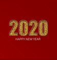 gold shiny glitter glowing numbers 2020 design of vector image vector image