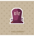 Grave icon Halloween sticker vector image vector image
