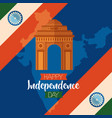 happy independence day india flat design vector image vector image