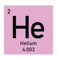 helium symbol vector image vector image