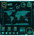hud navigation map screen elements vector image vector image