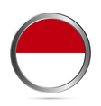 Indonesia flag button vector image