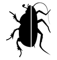 insect symbol vector image vector image