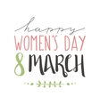 International Womens Day text 8 March for vector image vector image