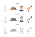 isolated object of checkmate and thin symbol vector image vector image