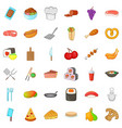 knife icons set cartoon style vector image vector image