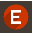 Letter E Logo Flat Icon Style vector image vector image