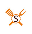 logo restaurant letter s vector image vector image