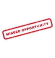 Missed Opportunity Text Rubber Stamp