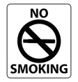 no smoking poster design black vector image vector image