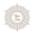 Oriental Indian Mandala Card vector image