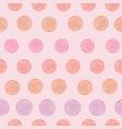 playful floral petal spot polka dot seamless vector image vector image