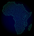 polygonal carcass mesh map of africa vector image