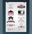 retro vintage insignias or logotypes set design vector image