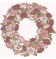 Romantic flower wreath wreath of roses vector image vector image