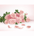 rose flower realistic composition vector image vector image