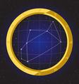 sagittarius star horoscope zodiac in fish eye vector image vector image