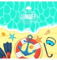 Sea shore and swimming accessories vector image vector image
