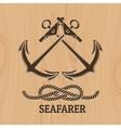Seafarer Club Emblem vector image vector image