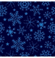 Seamless pattern from snowflakes on deep blue vector image