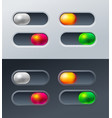 set 4 switches for mobile games applications vector image vector image