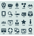 set marketing internet and service icons vector image