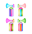 Set of Colorful Air Horn on Whit Background vector image vector image