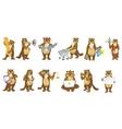 set of cute beavers vector image vector image