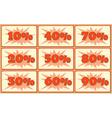 Set of labels with sale percents vector image vector image