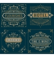 Set of Vintage cards template
