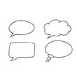 speech bubbles outline icons set vector image