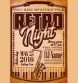 template in retro style for a party vector image