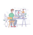 video conference office online call communication vector image vector image