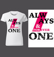 women white t-shirt design with inscriptions vector image vector image