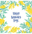 womens day square greeting card template vector image