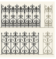 Wrought iron modular railings and fences vector image vector image