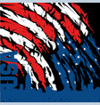 american flag background design graphic vector image