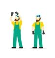 Repairman isolated cartoon mechanic person vector image