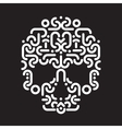 skull design element vector image