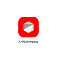 polygon apps logotype vector image