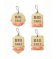 recycled paper labels with red ribbon set vector image